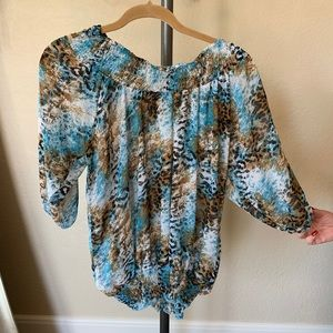 Like New Rock and roll cowgirl top Size Large